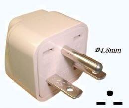 1#18台灣220V冷氣萬用一字轉接頭,一字--型轉接插頭 插座 轉換插座插頭,2P+E,黑色,適220V家電