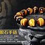【鋼飾Men】天然黄虎眼石6mm-18mm 手珠 0285手鍊