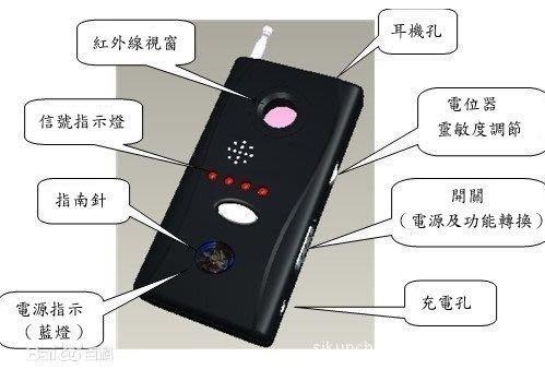 含稅!防偷拍!防偷錄!【約會、會議必備】CC308+ 反竊聽偵測器【自我保護必備品】【N0008】