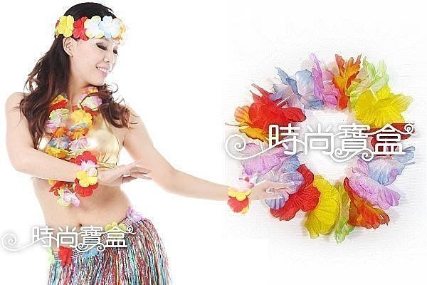 《時尚寶盒》#FLO-F_熱情夏威夷頭圈_草裙舞/呼啦舞/大溪地舞/適用迎賓頒獎接機舞會表演