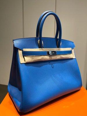 Hermes Birkin 35 7Q希臘藍 Epsom