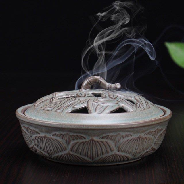 CC-114新品大號吉祥如意塔香 盤香爐陶瓷家用香爐 香道擺件