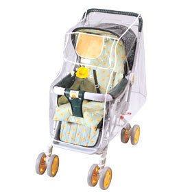 ☆╮花媽╭☆黃色小鴨 嬰兒手推車雨罩 GT88059~