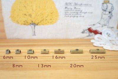 【幸福瓢蟲手作雜貨】古銅色蕾絲夾-單個賣場(7個尺寸選) 串珠 手工藝必備馬口夾 緞帶夾 ~滿五百免運