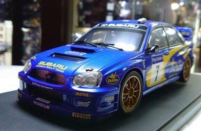 autoart 1/18。Subaru New Age Impreza WRC #7 2003。原盒