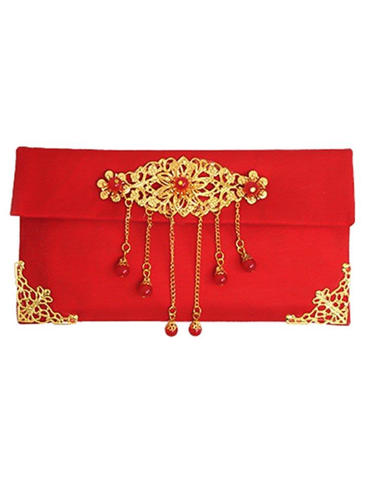 LANTERN 2019結婚慶新款紅包個性創意利是封生日喜字布藝大萬元刺繡