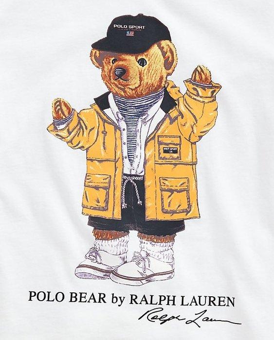 Ralph Lauren POLO 限量polo熊 大女童款 印花 T恤 現貨 白/雨衣熊