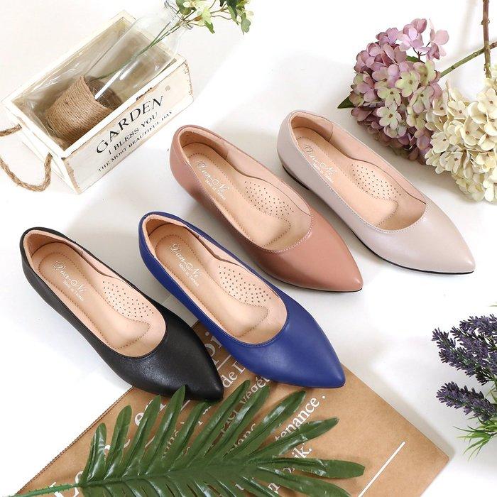 KA02 法式女孩上班鞋2.0 第二代 莫蘭迪色 側邊內縮寬腳板救星 尖頭鞋 娃娃鞋 低跟鞋 MIT台灣手工鞋 丹妮鞋屋