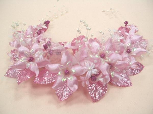 B. & W. world *美美的花飾*R13331**粉紅色、白色花飾**多用途 **艷光四射迷人