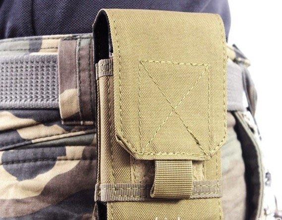 戰術腰包型男迷彩手機包木工水電工粗工手機收納包軍事迷男生小包外掛包手機腰包彈夾