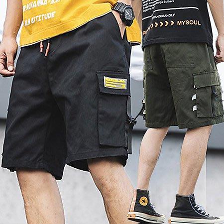 布標織布大口袋工裝短褲 潮流工作褲五分褲休閒褲 2色 M-3XL碼【CM65243】