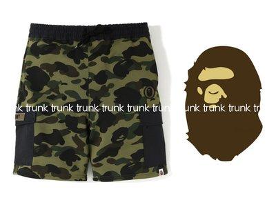 BAPE 1st camo sweat cargo shorts 迷彩人猿  貼布 口袋短褲 19SS  現貨在店