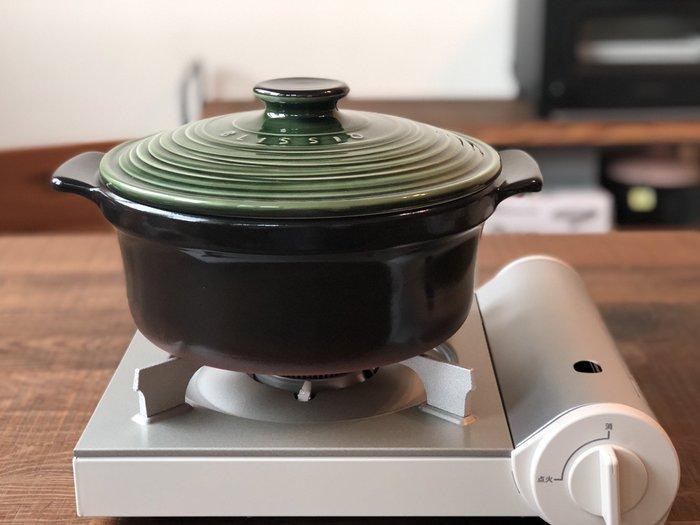 發現花園生活館~日本製 銀峰BLISSIO 高氣密 無水鍋  菊花 紅土飯鍋  24CM~ 咖啡 / 深藍 / 橄欖綠
