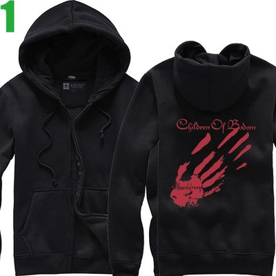 Children Of Bodom【死神之子】連帽厚絨長袖重金屬搖滾樂團外套(共4種顏色可選) 購買多件多優惠【賣場一】