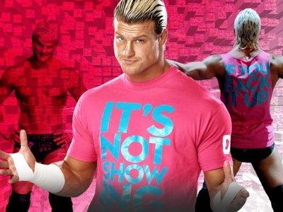 [美國瘋潮]WWE 正版 Dolph Ziggler Show Off Pink Tee DZ愛秀本色桃紅色衣服超值特價