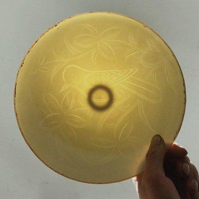 ㊣姥姥的寶藏㊣  定窯白釉暗雕花鳥紋斗笠碗
