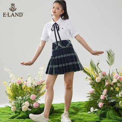 「橙子小鋪」 ELAND衣戀2021春季潮新款新品學院風系帶刺繡娃娃領襯衫上衣女D5G5