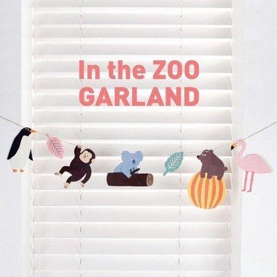 促銷PR79❤In the ZOO GARLAND派對掛飾❤慶生派對裝飾/DIY動物園卡片/小孩房臥房櫥窗裝飾佈置品