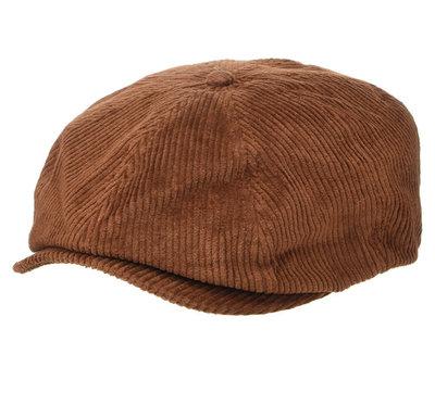 全新 現貨XS Brixton brood amber newsboy hat 燈芯絨 報童帽 復古 騎士 滑板 衝浪