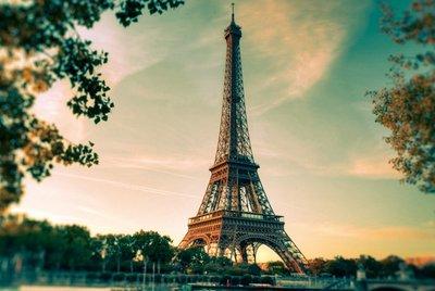 拼圖進口椴木質拼圖1000片巴黎全景埃艾菲爾鐵塔建筑美色七夕趣味禮物