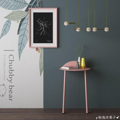 ┎街角洋果子➹北歐邊幾迷你小圓桌子沙發茶幾靠牆高腳臥室床頭桌鐵藝桌A836U