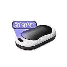【 送收納袋】雙面發熱暖手寶10000毫安 充電寶 溫度顯示 電暖蛋懷爐 暖暖包 暖宮神器 行動電源#21211