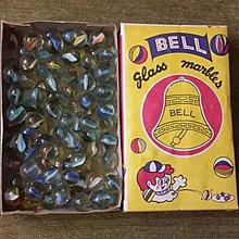 【五六年級童樂會】 早期絕版懷舊童玩 最經典的金鐘牌 整盒裝玻璃彈珠 眾多收藏怎能少這一味
