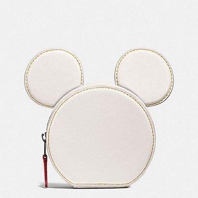 【西寧鹿】全新 COACH F59071 米奇 零錢包 白 disney 迪士尼 美國