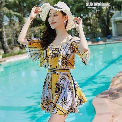泳衣女新款連體保守大碼泳裝溫泉遮肚顯瘦性感女士游泳衣