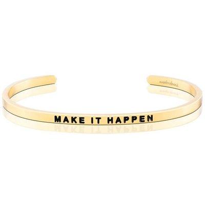 MANTRABAND 台北ShopSmart直營店 MAKE IT HAPPEN 展望未來 夢想成真 金手環