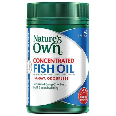 Nature's Own 無腥味魚油 高濃縮 60顆 Concentrated Fish Oil