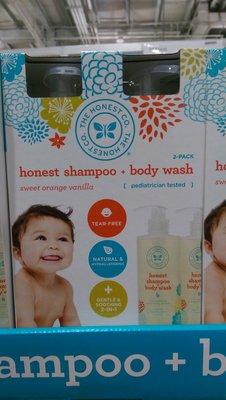 好市多COSTCO代購--THE HONEST CO 甜橘香草二合一洗髮沐浴乳 500mlx2瓶/組