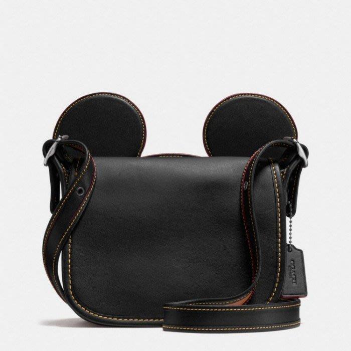 ~☆.•°莎莎~*~~☆~ COACH 59369 Disney Mickey 米奇大耳朵單肩斜女包 現貨