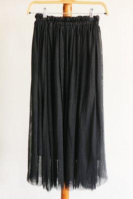 氣質黑色長裙紗裙-C箱C9(SHEIN-Qoo10-ZALOR-組曲-參考)【250含郵】