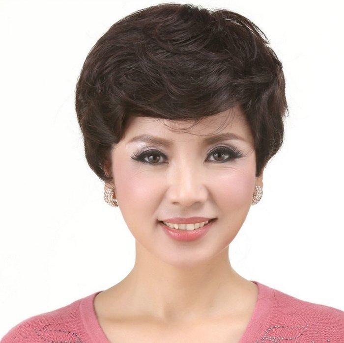 水媚兒假髮ZMF014HH♥新款女士真髮 經典優雅 遮白髮 短髮♥ 預購 團購批發