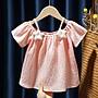【溜。溜。選物】童裝 春夏 棉質小星星吊帶短袖T恤
