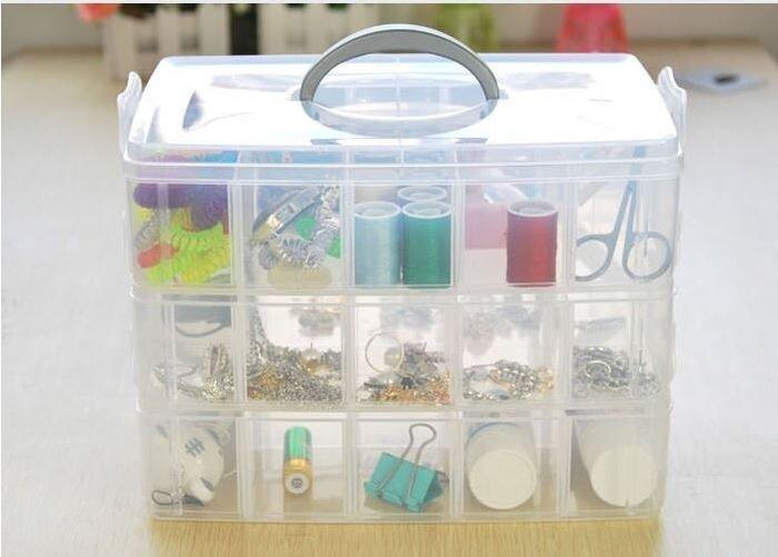 【Ray的雜貨鋪】大三層自由分離式30格多用儲物箱 收納箱 飾品盒子