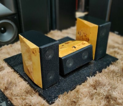 英國 Audio carden 頂級鳥眼楓木鋼烤喇叭【優質美聲 歡迎試聽】
