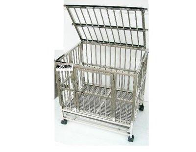 【優比寵物】2尺*1.5尺 白鐵(摺疊/折疊式)不鏽鋼/不銹鋼管/狗籠/貓籠/兔籠/寵物籠( 優惠價 )產地:台灣.