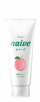 日本 Kracie naive 植物性洗面乳130g ( 桃子香 )