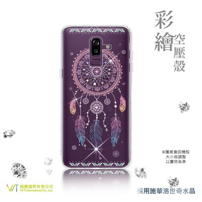 【WT 威騰國際】 WT® Samsung Galaxy J8 (18) 施華洛世奇水晶 彩繪空壓殼 保護殼 -【幸運】