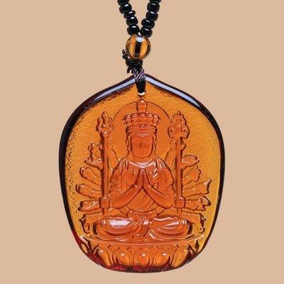 【睿智精品】琉璃 神像 佛像 千手觀音菩薩項鍊 珠鍊款 十二生肖屬(鼠)本命佛(GA-4806)