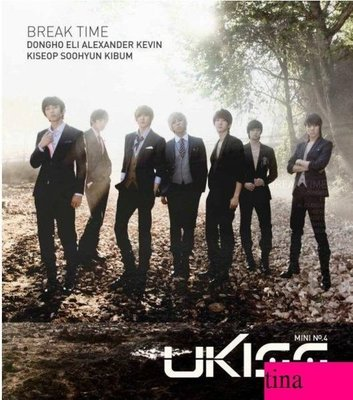 U-Kiss Mini Album Vol. 4 - Break Time 韓國原版第四張迷你專輯贈50頁寫真集全新未拆下標即售