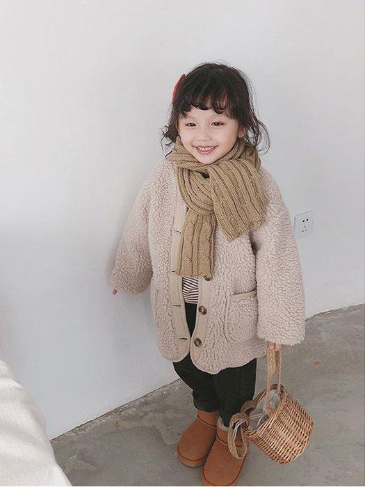 I ♥ MOM   2019新款# 女孩兒韓國版加厚保暖羊羔毛外套  (預購)