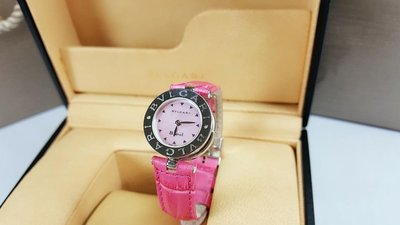 BVLGARI 寶格麗 B.zero1系列 BZ22S 粉色貝母面腕錶