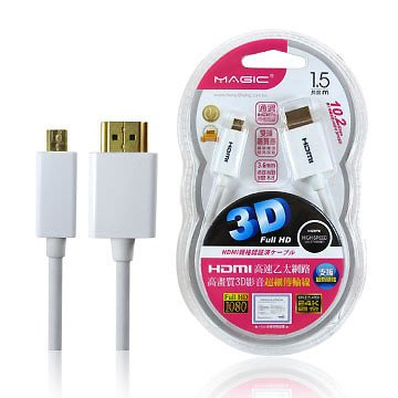 ╠機殼天堂╣鴻象 HDMI 1.4版A/D高畫質細線白-1.5M  限量3個