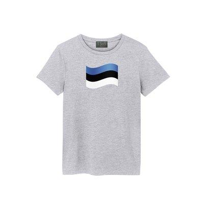 T365 Estonia 愛沙尼亞 國旗 國家 飄揚 T恤 男女可穿 多色同款可選 短T 素T 素踢 TEE 短袖 上衣
