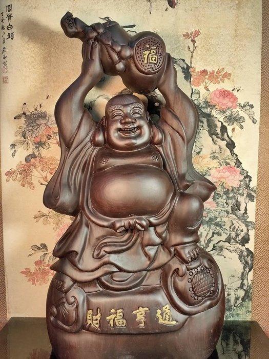 【新品上架】格格傳藝坊~黑檀彌勒財神