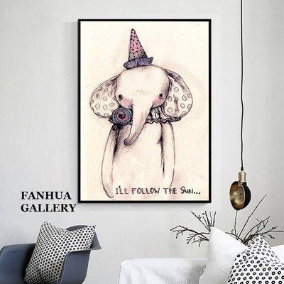 C - R - A - Z - Y - T - O - W - N 大象可愛創意麋鹿熊貓狗動物裝飾掛畫床頭掛畫民宿裝飾畫