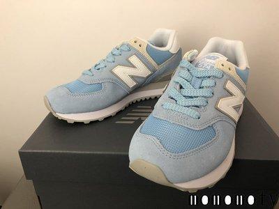 NEW BALANCE 574 WL574ESB 藍白 水藍 粉藍 天空藍 淺藍 復古休閒慢跑鞋 請先詢問庫存 女